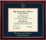 The University of Texas San Antonio Diploma Frame - Gold Embossed Diploma Frame in Gallery