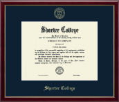 Shorter College Diploma Frame - Gold Embossed Diploma Frame in Galleria