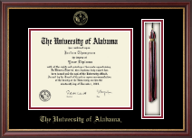 The University of Alabama Tuscaloosa Diploma Frame - Tassel Edition Diploma Frame in Newport