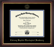 Calvary Baptist Theological Seminary Diploma Frame - Gold Embossed Diploma Frame in Regency Gold