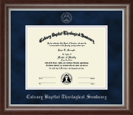 Calvary Baptist Theological Seminary Diploma Frame - Silver Embossed Diploma Frame in Devonshire