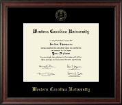Western Carolina University Diploma Frame - Gold Embossed Diploma Frame in Studio