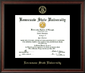 Kennesaw State University Diploma Frame - Gold Embossed Diploma Frame in Studio