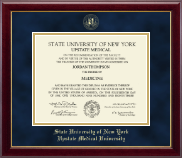 SUNY Upstate Medical University Diploma Frame - Gold Embossed Diploma Frame in Gallery