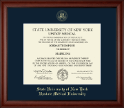 SUNY Upstate Medical University Diploma Frame - Gold Embossed Diploma Frame in Cambridge