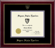 Sigma Alpha Epsilon Fraternity Certificate Frame - Embossed Certificate Frame in Gallery