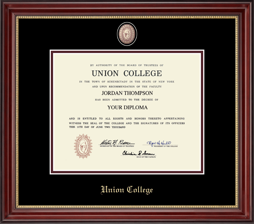 union college in new york masterpiece medallion diploma frame in  union college in new york masterpiece medallion diploma frame in kensington gold item 122408