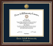 Texas A&M University - Commerce Diploma Frame - 23K Medallion Diploma Frame in Hampshire