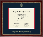 Augusta State University Diploma Frame - Gold Embossed Diploma Frame in Kensington Gold