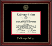LaGrange College Diploma Frame - Gold Embossed Diploma Frame in Kensington Gold