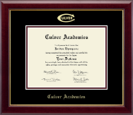 Culver Academies Diploma Frame - Gold Embossed Diploma Frame in Gallery