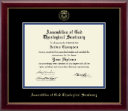 PhD - Gold Embossed Diploma Frame