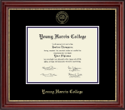 Young Harris College Diploma Frame - Gold Embossed Diploma Frame in Kensington Gold