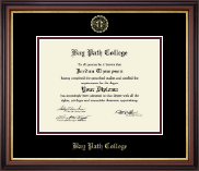 Bay Path College Diploma Frame - Embossed Diploma Frame in Regency Gold