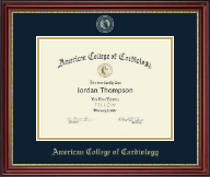 American College of Cardiology Certificate Frame - Masterpiece Medallion Certificate Frame in Kensington Gold