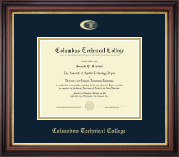 Columbus Technical College Diploma Frame - Gold Embossed Diploma Frame in Regency Gold