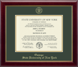State University of New York at Oswego Diploma Frame - Gold Embossed Diploma Frame in Gallery