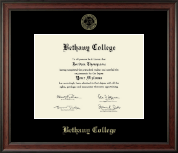 Bethany College in Kansas Diploma Frame - Gold Embossed Diploma Frame in Studio