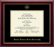 South Dakota State University Diploma Frame - Gold Embossed Diploma Frame in Gallery