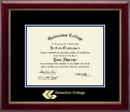 Galveston College Diploma Frame - Gold Embossed Diploma Frame in Gallery