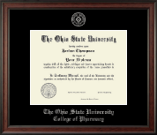 The Ohio State University Diploma Frame - Silver Embossed Diploma Frame in Studio