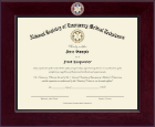 National Registry of Emergency Medical Technicians Certificate Frame - Century Masterpiece Certificate Frame in Cordova