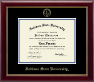 Indiana State University Diploma Frame - Gold Embossed Diploma Frame in Gallery