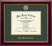 Pine Manor College Diploma Frame - Gold Embossed Diploma Frame in Gallery