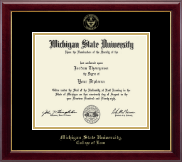 Michigan State University Diploma Frame - Gold Embossed Diploma Frame in Gallery