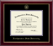 Northwestern State University Diploma Frame - Gold Embossed Diploma Frame in Gallery
