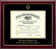 Fordham University Diploma Frame - Gold Embossed Diploma Frame in Gallery