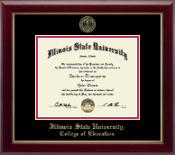 Illinois State University Diploma Frame - Gold Embossed Diploma Frame in Gallery