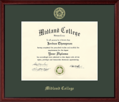 Midland College Diploma Frame - Gold Embossed Diploma Frame in Camby