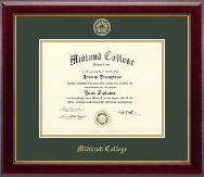 Midland College Diploma Frame - Gold Embossed Diploma Frame in Gallery