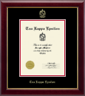 Tau Kappa Epsilon Fraternity Certificate Frame - Embossed Certificate Frame in Gallery