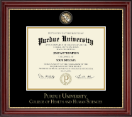 Indiana University - Purdue University Diploma Frame - Masterpiece Medallion Diploma Frame in Kensington Gold