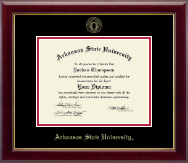 Arkansas State University at Jonesboro Diploma Frame - Gold Embossed Diploma Frame in Gallery