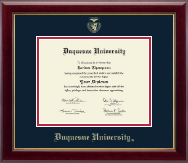 Duquesne University Diploma Frame - Gold Embossed Diploma Frame in Gallery