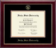 Idaho State University Diploma Frame - Gold Embossed Diploma Frame in Gallery