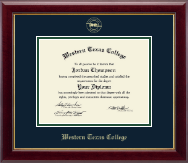 Western Texas College Diploma Frame - Gold Embossed Diploma Frame in Gallery