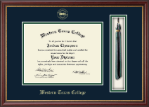 Western Texas College Diploma Frame - Tassel Diploma Frame in Newport