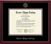 Lenoir-Rhyne University Diploma Frame - Gold Embossed Diploma Frame in Galleria