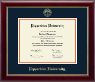 Pepperdine University Diploma Frame - Gold Embossed Diploma Frame in Gallery