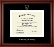 Tuskegee University Diploma Frame - Gold Embossed Diploma Frame in Cambridge