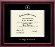 Tuskegee University Diploma Frame - Gold Embossed Diploma Frame in Gallery