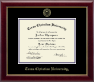 Texas Christian University Diploma Frame - Gold Embossed Diploma Frame in Gallery