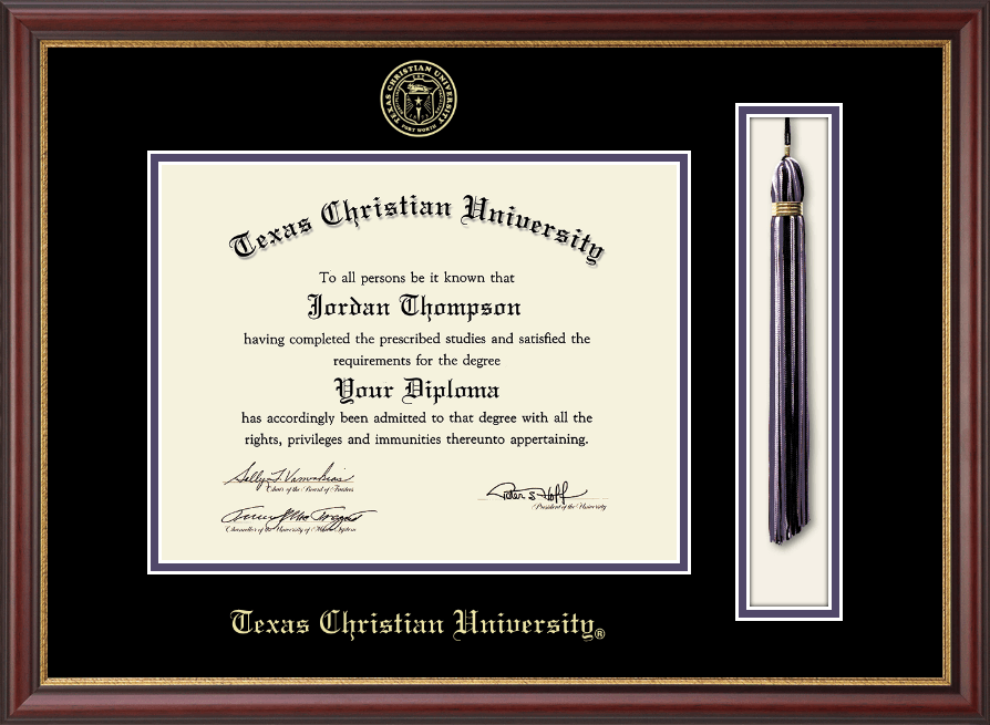 Texas Christian University Tassel Diploma Frame In Newport