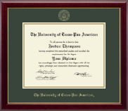 The University of Texas Pan American Diploma Frame - Gold Embossed Diploma Frame in Gallery