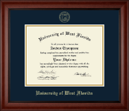 University of West Florida Diploma Frame - Gold Embossed Diploma Frame in Cambridge