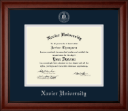 Xavier University Diploma Frame - Silver Embossed Diploma Frame in Cambridge